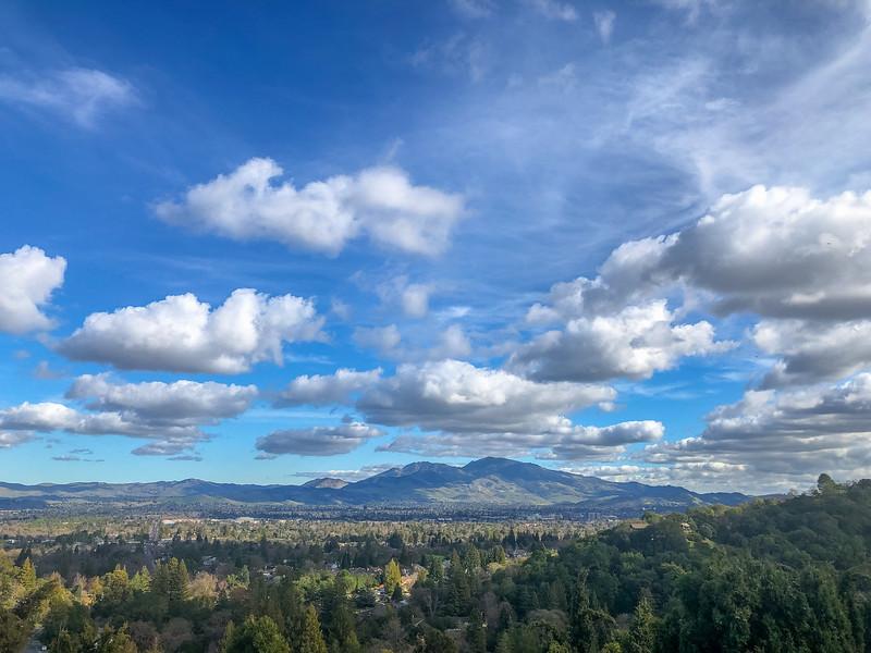Mt Diablo cloudscape