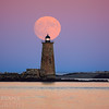 Supermoon Over Whaleback Light