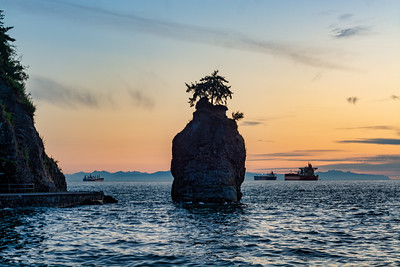 Siwash Rock at Sunset