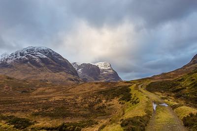 Three sisters in Glencoe Valley, Scotland