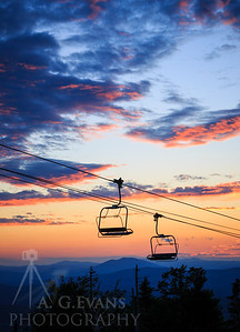 Chairlift Sunset 3