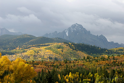 Mt. Sneffels with first snow coming