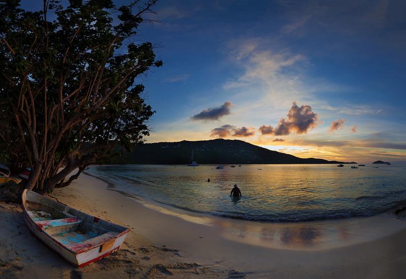 Sunset Magens Bay, St Thomas USVI