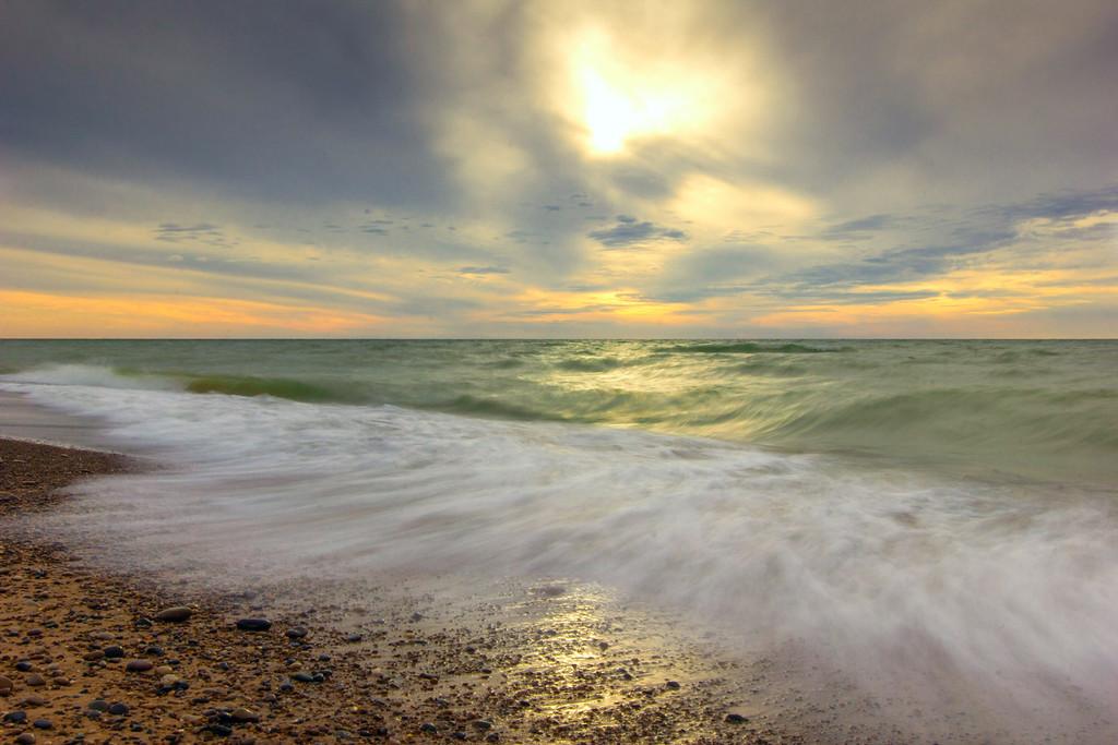 Waves Washing Ashore