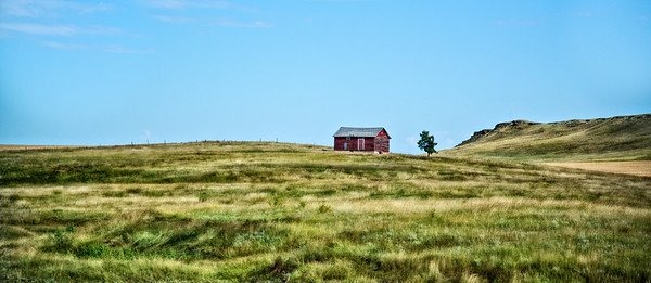 """Sept 16 - The Little Red Barn<br /> <br /> Another """"drive by"""" image in North Dakota.  Thanks so much for your comments on my sunflower field image - and special thanks to TsTravels for the title suggestion :)"""