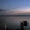 moon and Venus over Cayuga Lake