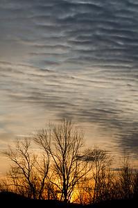 Ripples at sunset