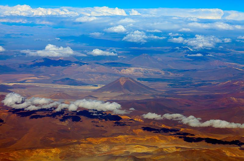 Flying into the Atacama desert From Santiago to Calama, then into the Atacama desert