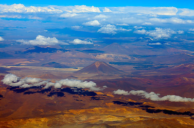 Flying into the Atacama desert From Santiago to Calama, then into the Atacama desert