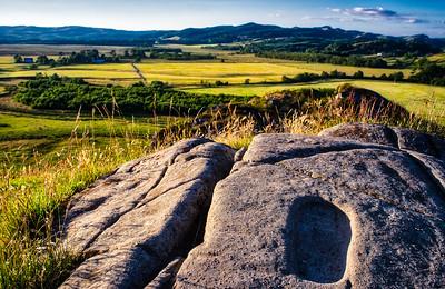 Inaugration Stone, Fort Dunadd, Argyll