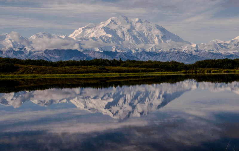 Denali  and Reflection Pond