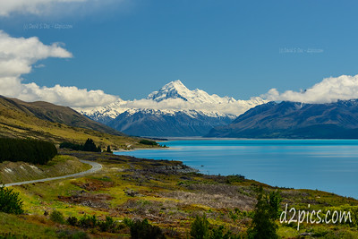 Snowcapped Mt Cook