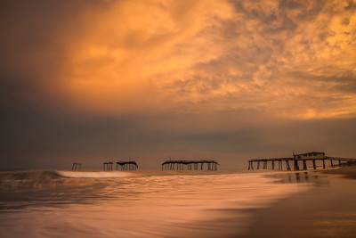 Frisco Pier and Tropical Storm, OBX