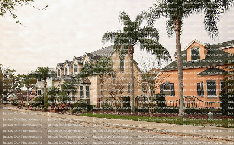 Row of houses in downtown Mount Dora, Florida