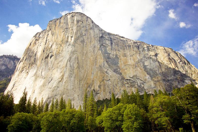El Capitan in Yosemite Valley from El Capitan Meadow