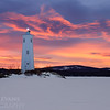 Sky Fire at Loon Island Light