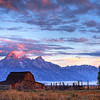 Moulton Barn at Sunrise, Grand Tetons National Park, Wyoming