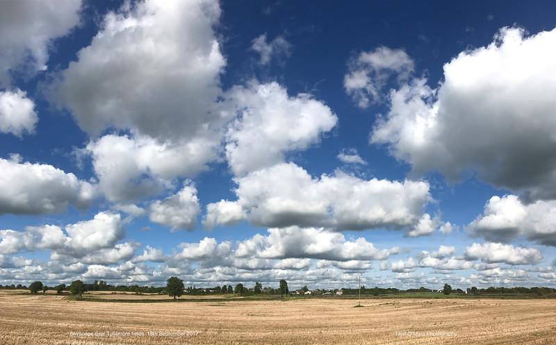 Skiy over fields, Tullamore 2017