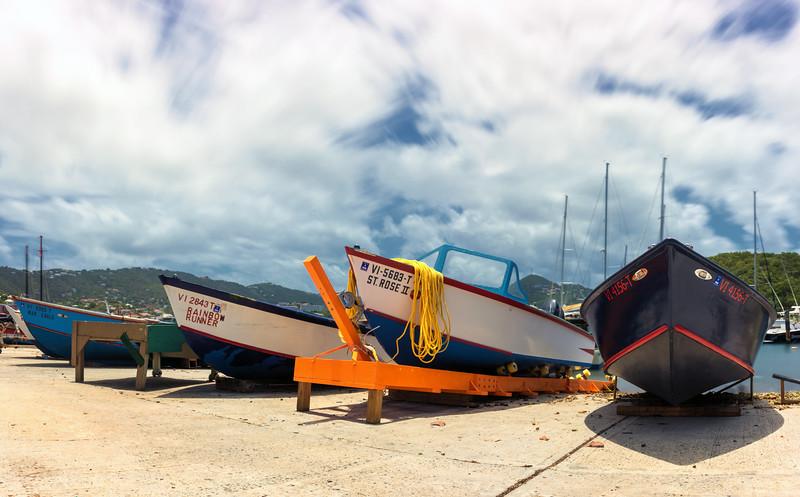 Fishing Boats, Frenchtown,  St Thomas, USVI