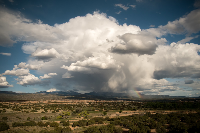 Nambe Rain Storm and Rainbow