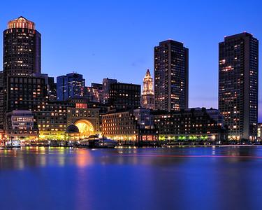 Boston Harbor Night Lights