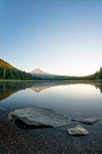 Trillium Lake Sunrise Fish Eye - Mount Hood-6