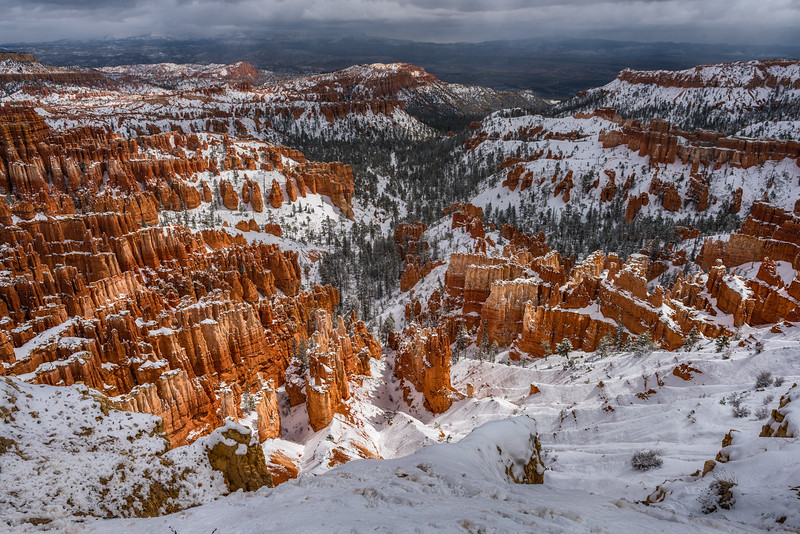 Inspiration Point at Bryce Canyon National Park in winter, Utah