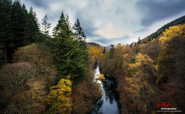 A view North from Garry Bridge, Pitlochry