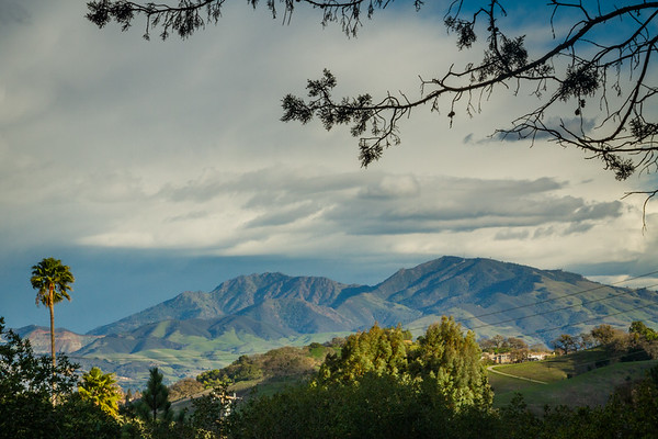 Mt Diablo storm clouds