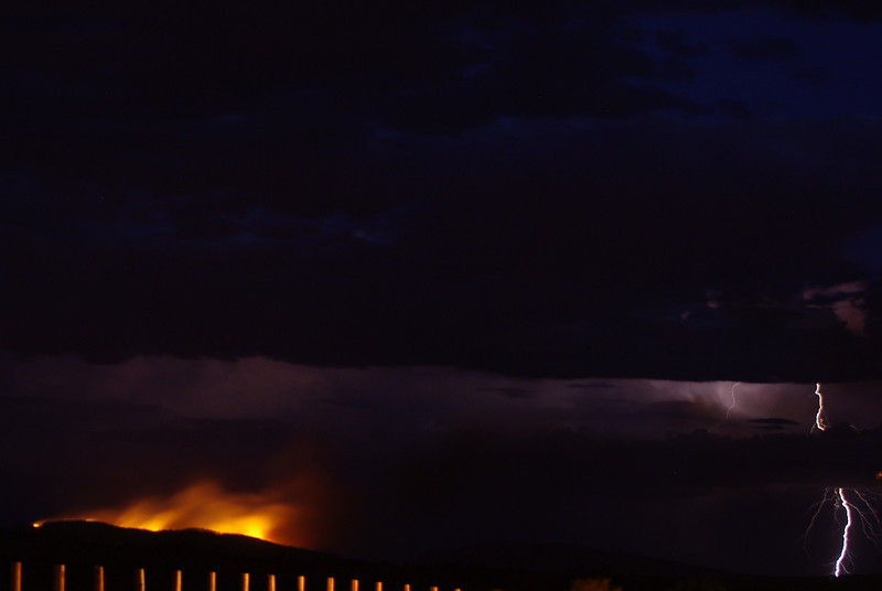 Fire and lightning, Hope Downs, pilbara, WA.