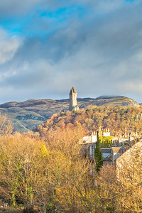 Stirling, Scotland, UK - December 04, 2017:  Wallace Monument Stirling Scotland