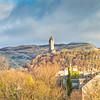 Stirling, Scotland, UK - December 04, 2017:  Wallace Monument Stirling Scotland