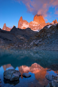 Fire on Mount Fitz Roy – Los Glaciares National Park, Patagonia, Argentina