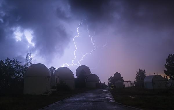 Lightning over Mt Lemmon SkyCenter