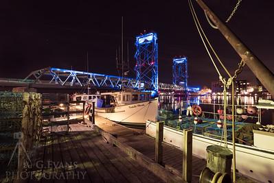 Memorial Bridge with Lobster Boats II