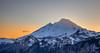 Sunset behind Mt. Baker