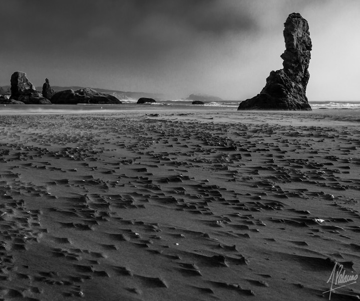 Sand carved ridges, Bandon, Oregon