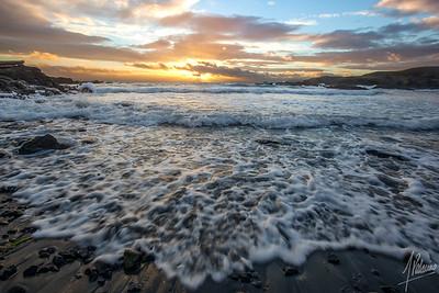 Busy Sky, Busy Ocean - Sunset at Grandma's Cove, San Juan Island, WA