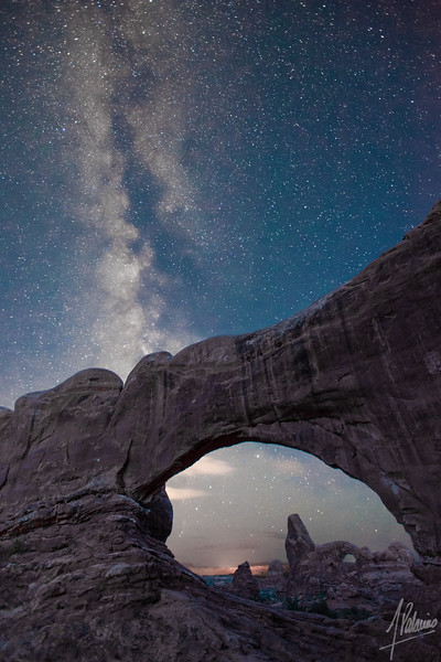 Turret Arch and Milky Way, Arches National Park