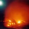 Moonrise over lava flows 001
