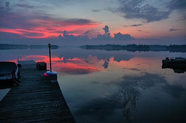 dawn at the lake