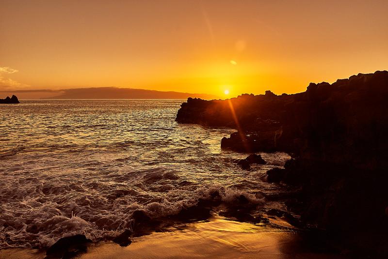 canary island sunset, wide
