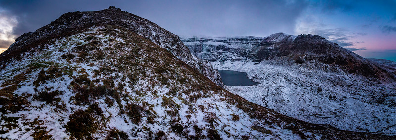 Coumshingaun In Snow
