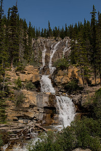 These falls were alongside the highway towards the Columbia Icefields.