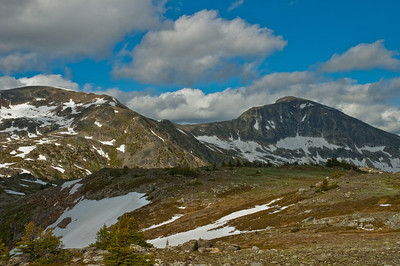 There was snow atop this mountain in the middle of Summer, even though it was quite warm