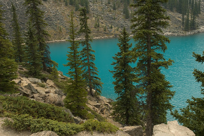 There was a forest fire in the region when I shot this, so we didn't stay for very long.  I love the unique colors of these glacier fed lakes.