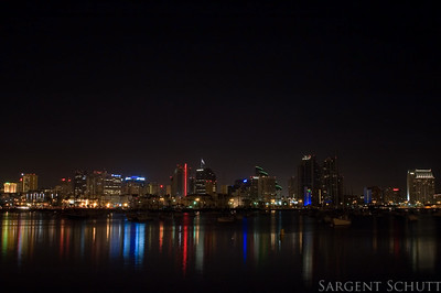 San Diego City Lights at Night