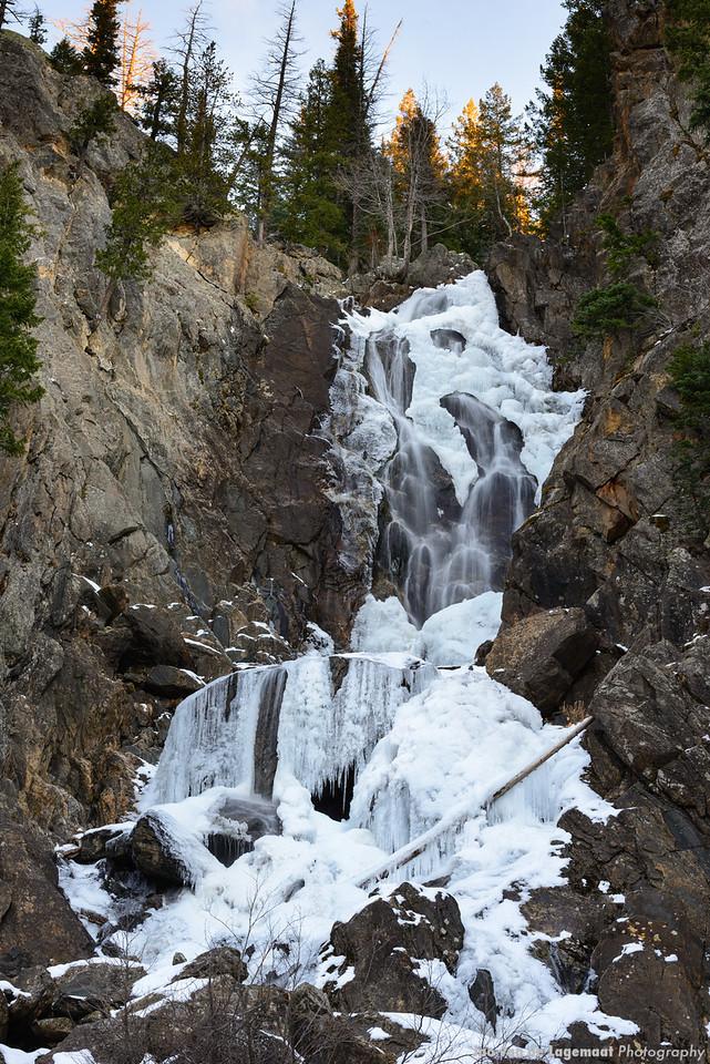 Fish Creek falls in ice