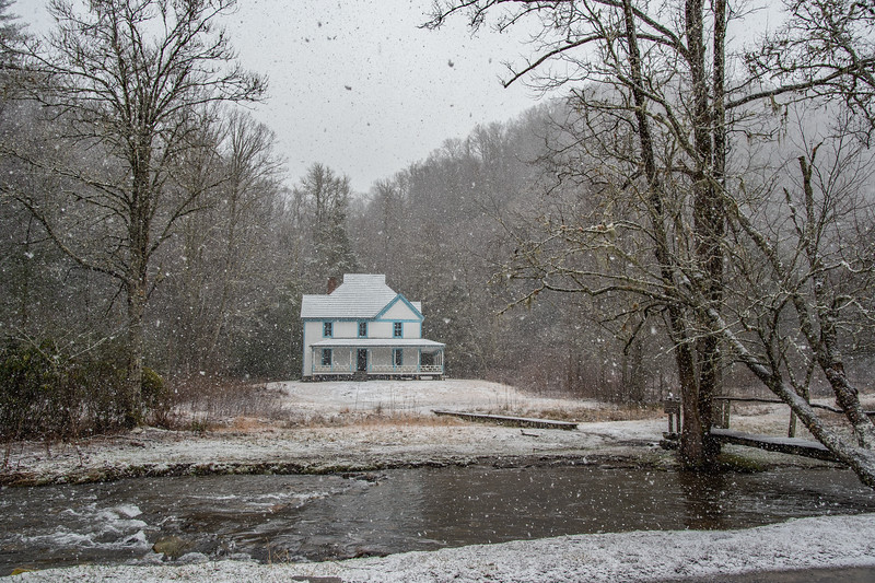 Caldwell House In Winter