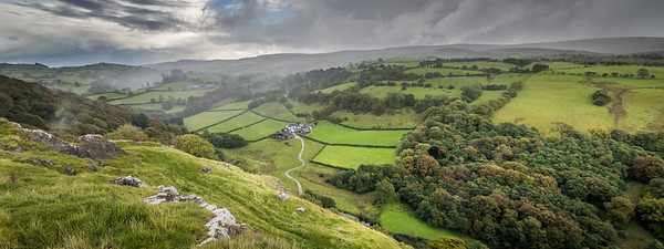 View from Carreg Cennen castle
